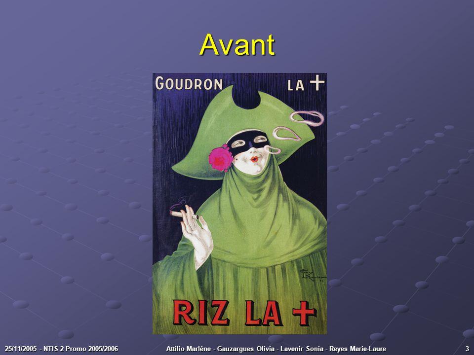 Avant Gitanes, 1980 25/11/2005 - NTIS 2 Promo 2005/2006