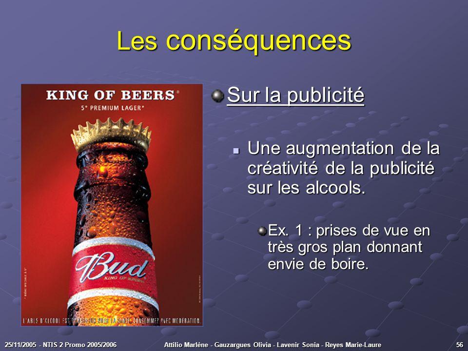 Les conséquences Sur la publicité