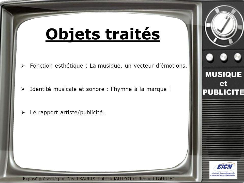 Exposé présenté par David SAURIS, Patrick JALUZOT et Renaud TOURTET