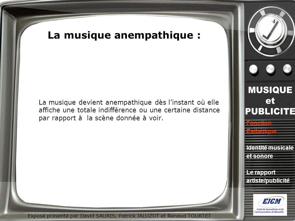 La musique anempathique :