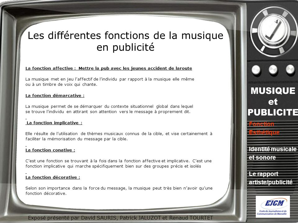 Les différentes fonctions de la musique en publicité