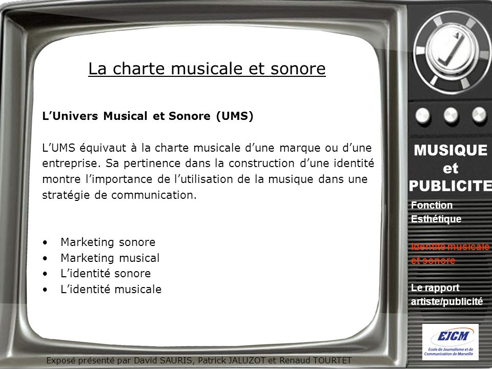 La charte musicale et sonore