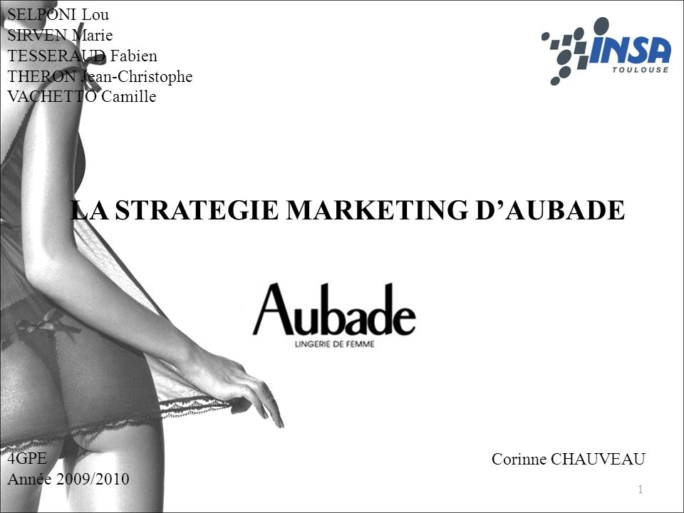 LA STRATEGIE MARKETING D'AUBADE