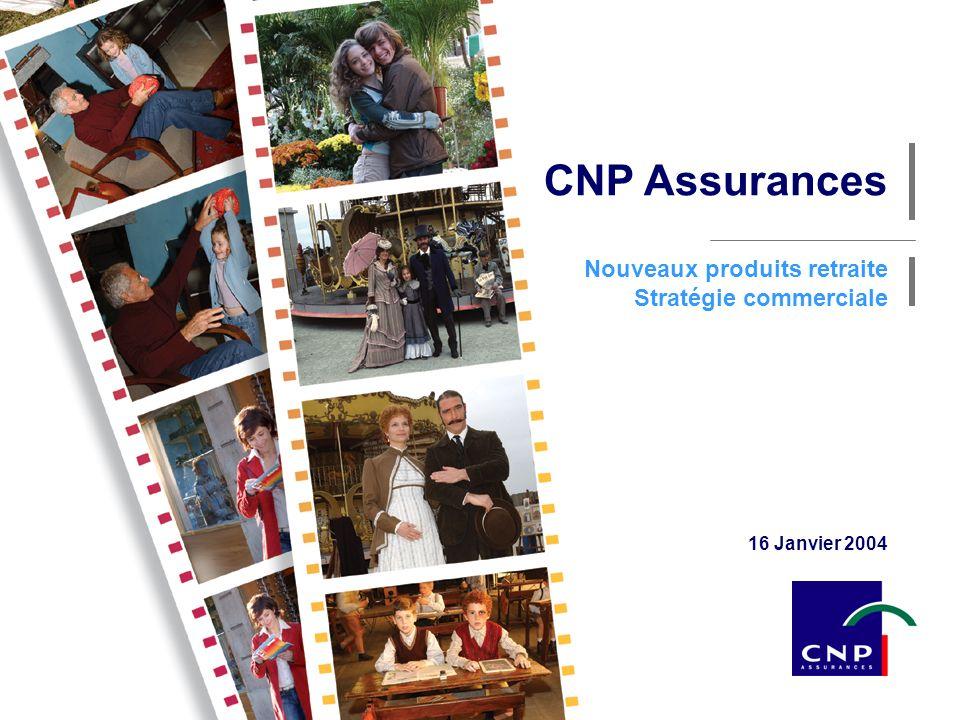 CNP Assurances Nouveaux produits retraite Stratégie commerciale