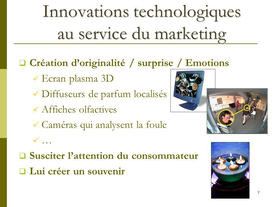 Innovations technologiques au service du marketing