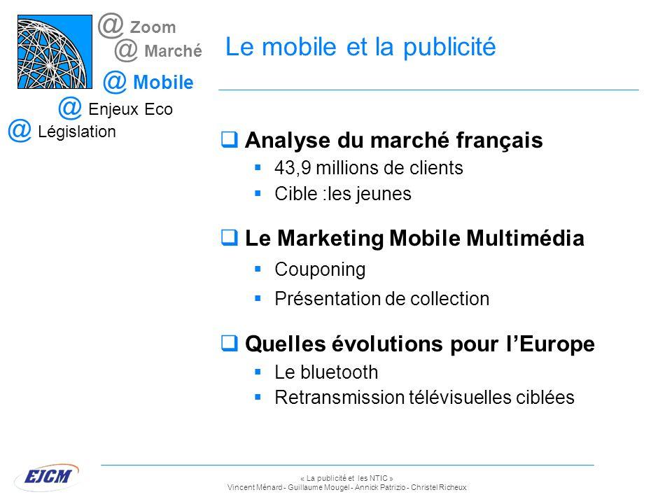 Le mobile et la publicité