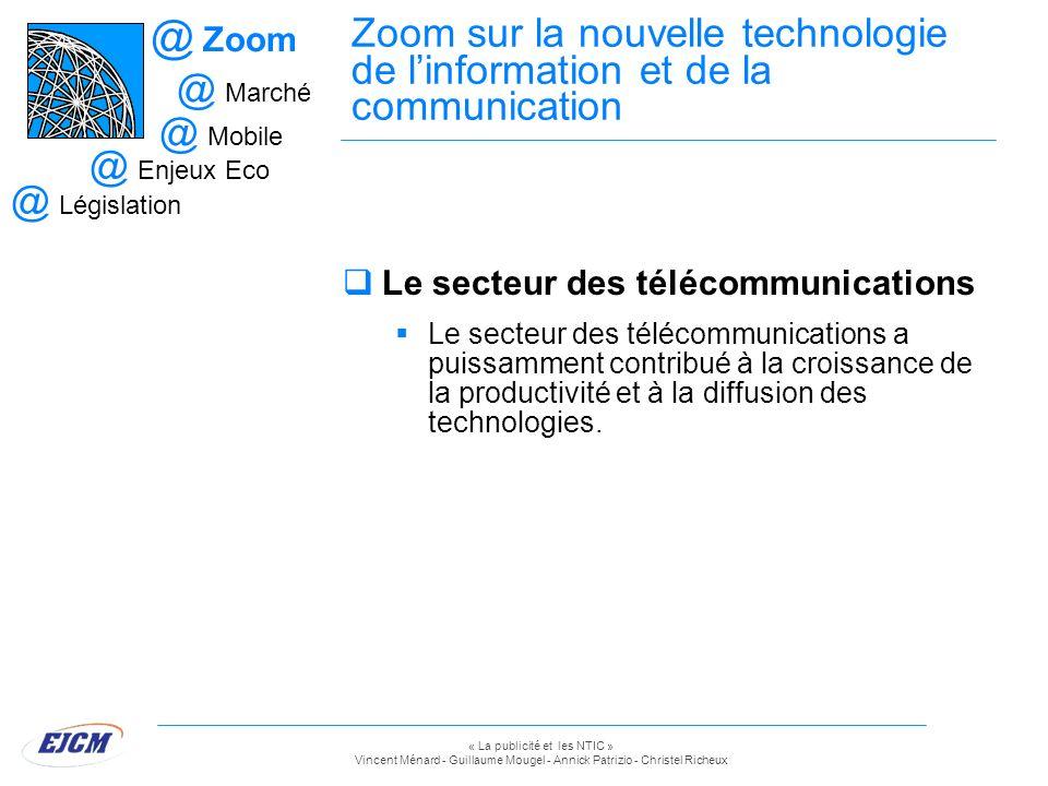 Zoom Zoom sur la nouvelle technologie de l'information et de la communication. Marché. Mobile. Enjeux Eco.