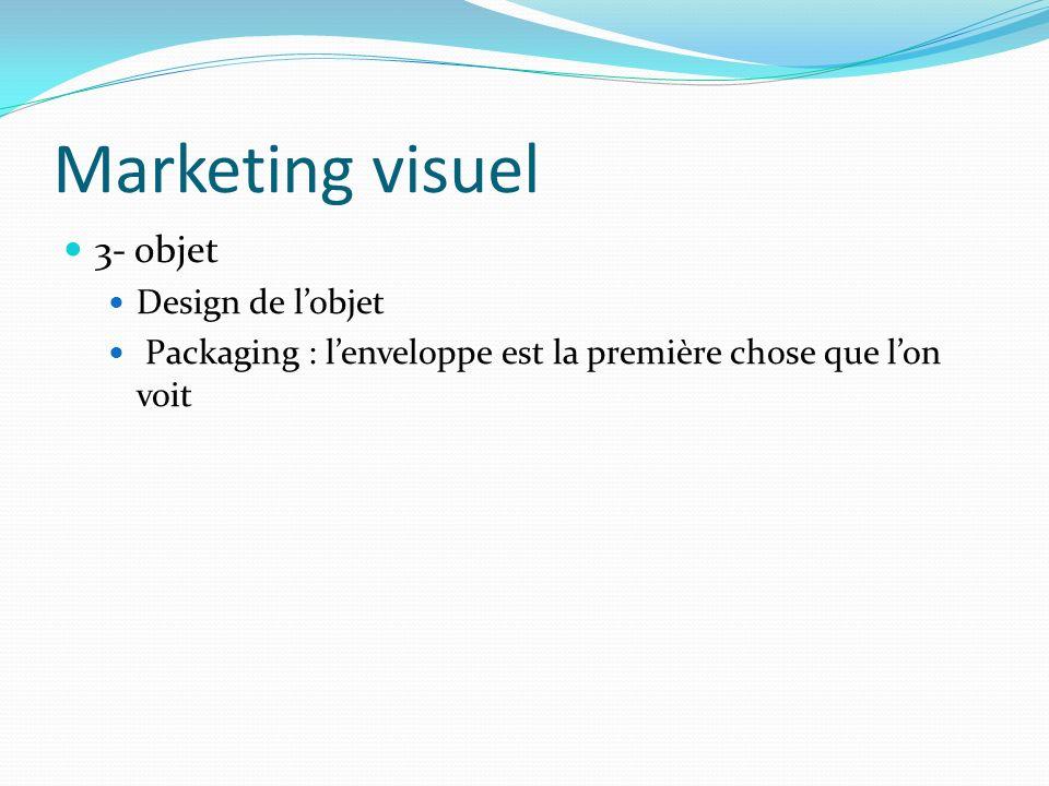 Marketing visuel 3- objet Design de l'objet