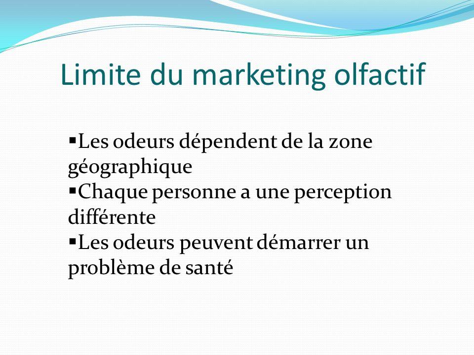 Limite du marketing olfactif