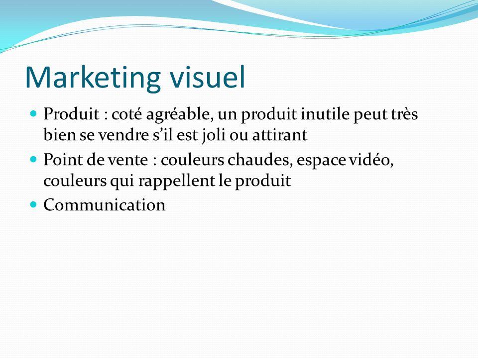 Marketing visuel Produit : coté agréable, un produit inutile peut très bien se vendre s'il est joli ou attirant.