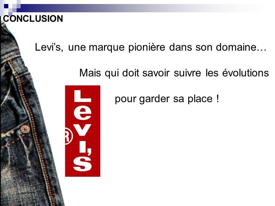 Levi's, une marque pionière dans son domaine…