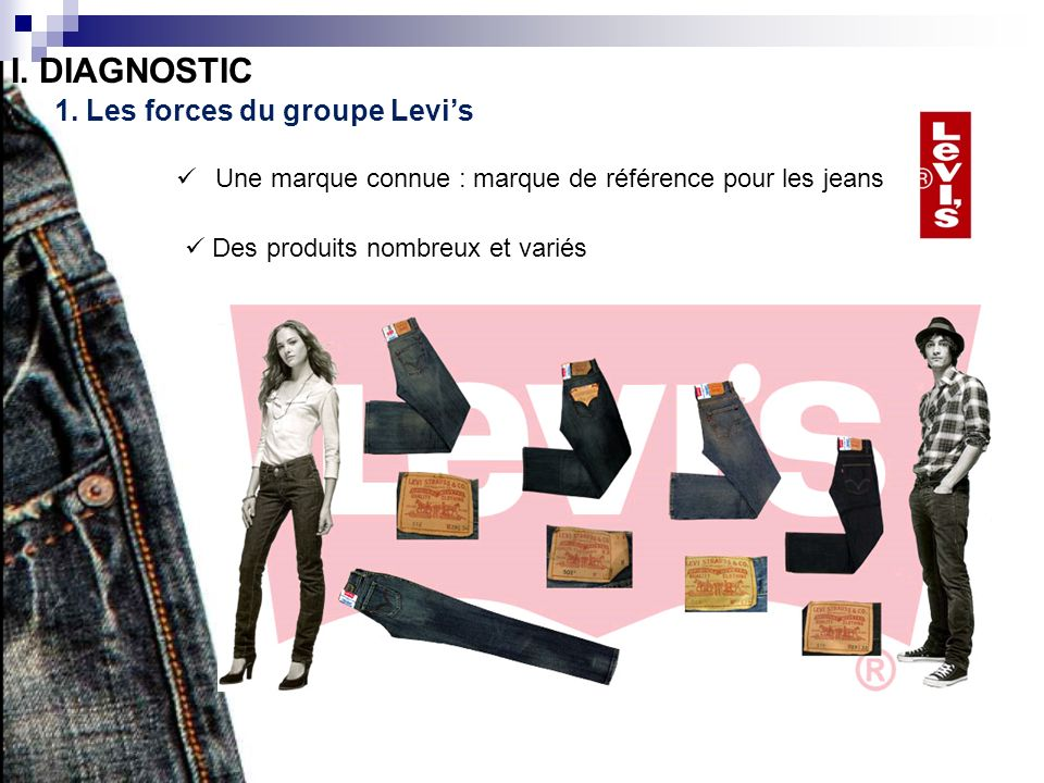 I. DIAGNOSTIC 1. Les forces du groupe Levi's