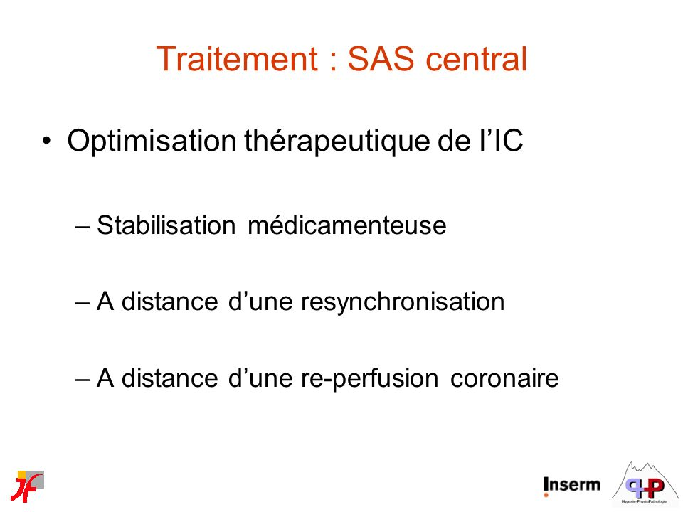 Traitement : SAS central