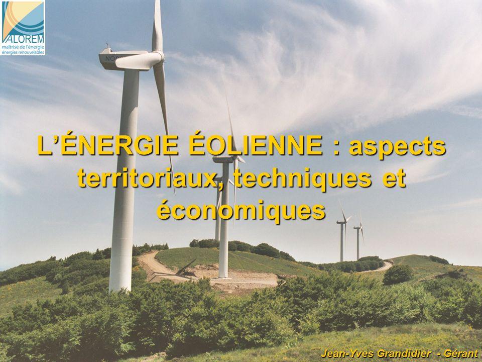 L'ÉNERGIE ÉOLIENNE : aspects territoriaux, techniques et économiques
