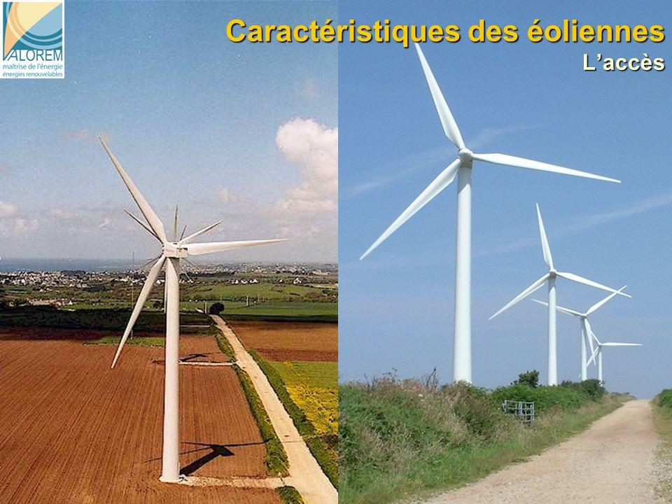 Caractéristiques des éoliennes L'accès