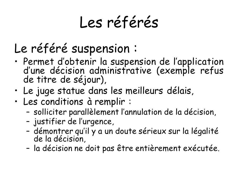 Les référés Le référé suspension :