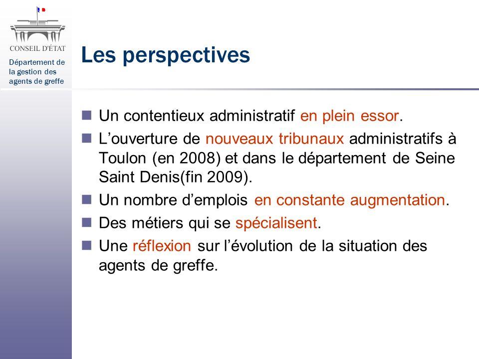 Les perspectives Un contentieux administratif en plein essor.