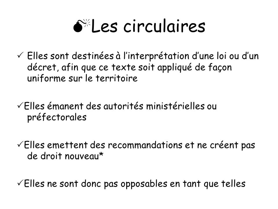 Les circulaires