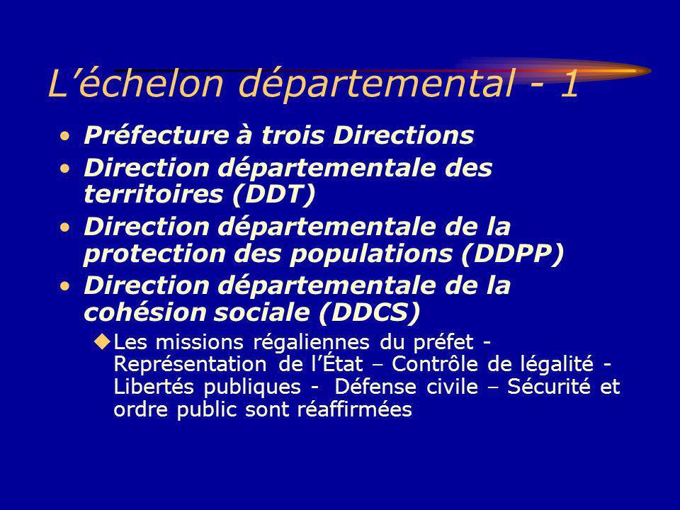 L'échelon départemental - 1