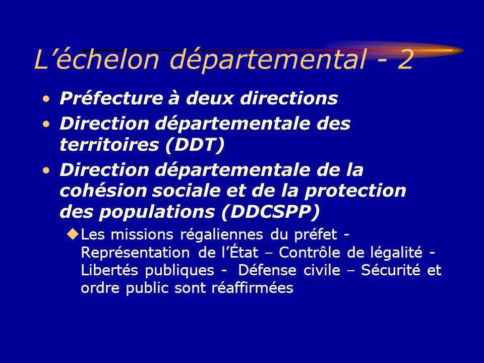 L'échelon départemental - 2