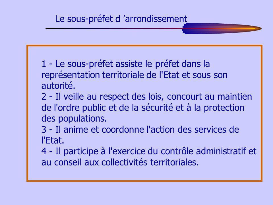 Le sous-préfet d 'arrondissement