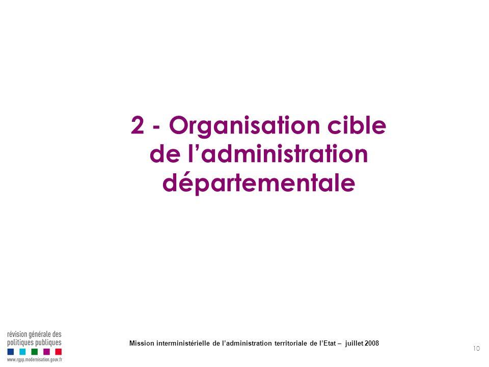 2 - Organisation cible de l'administration départementale