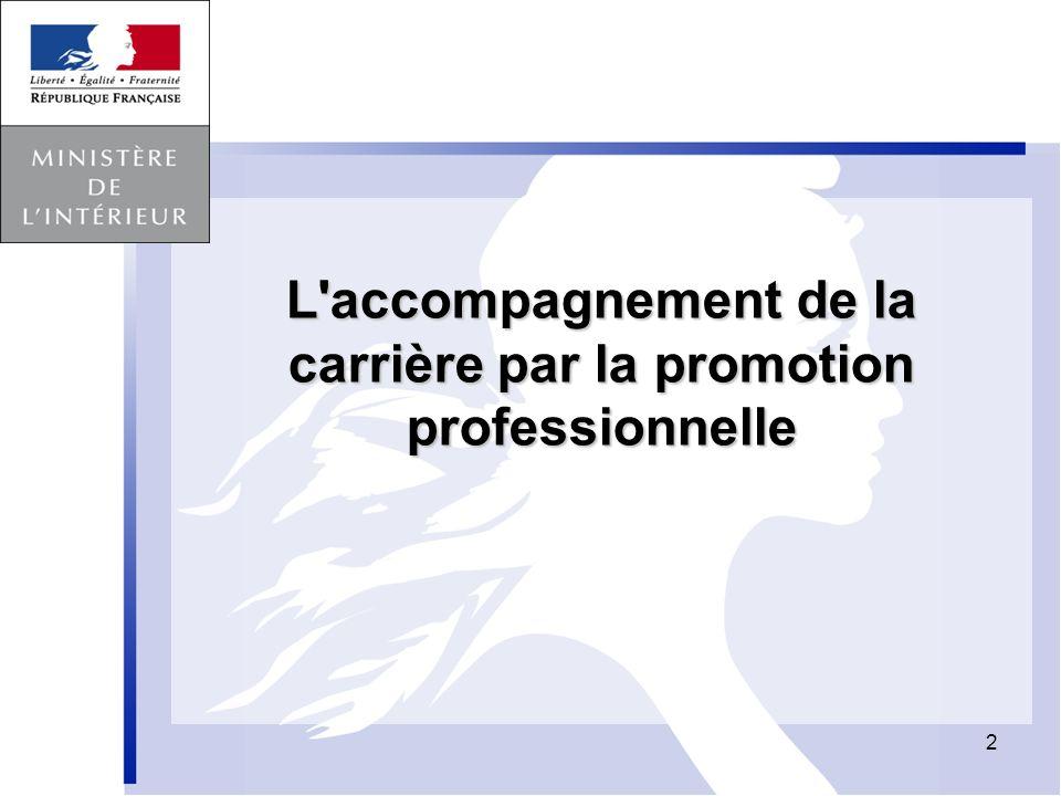 L accompagnement de la carrière par la promotion professionnelle