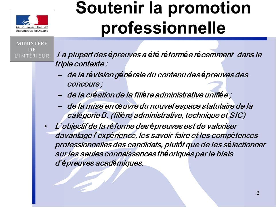 Soutenir la promotion professionnelle