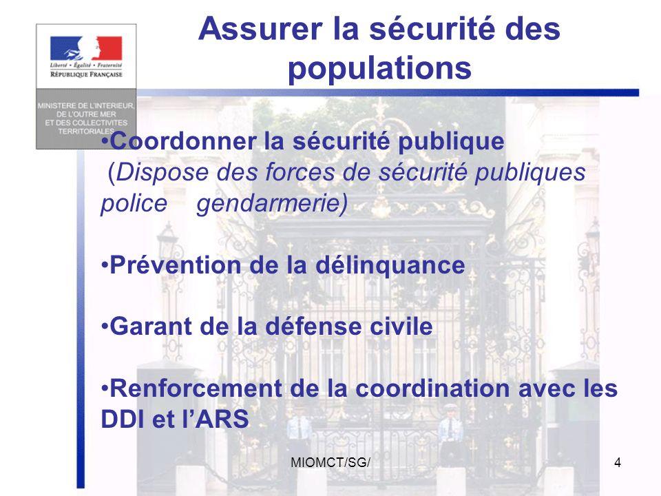 Assurer la sécurité des populations