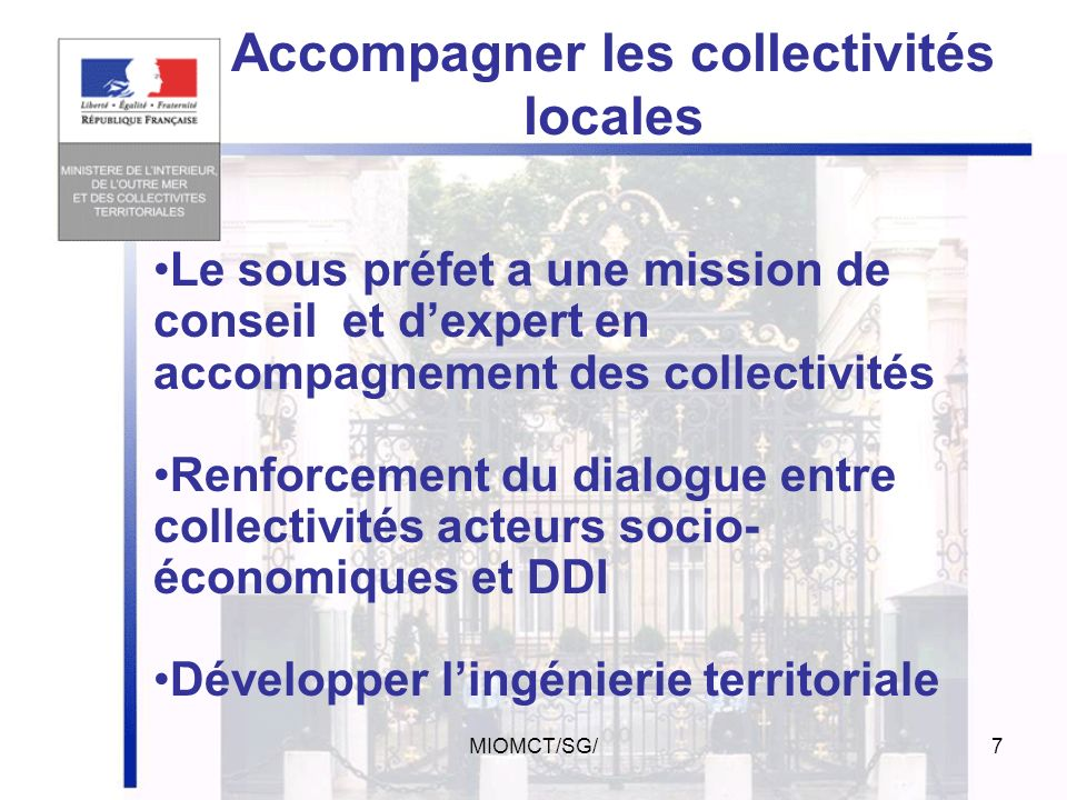 Accompagner les collectivités locales