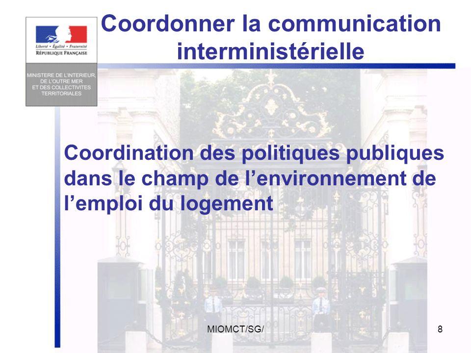 Coordonner la communication interministérielle