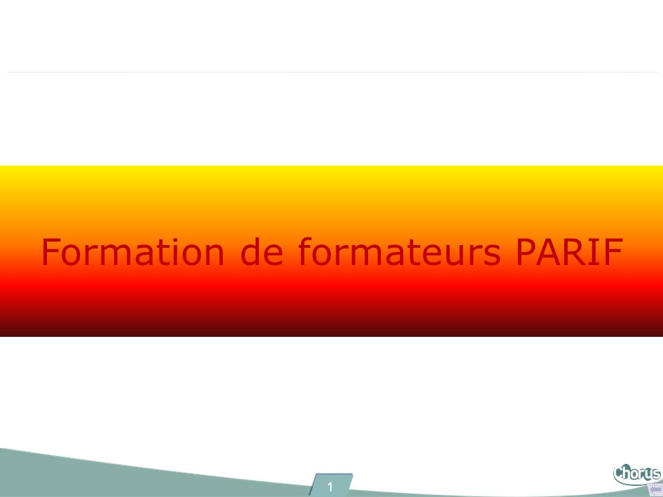 Formation de formateurs PARIF