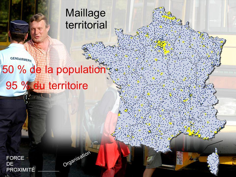 Maillage territorial 50 % de la population 95 % du territoire