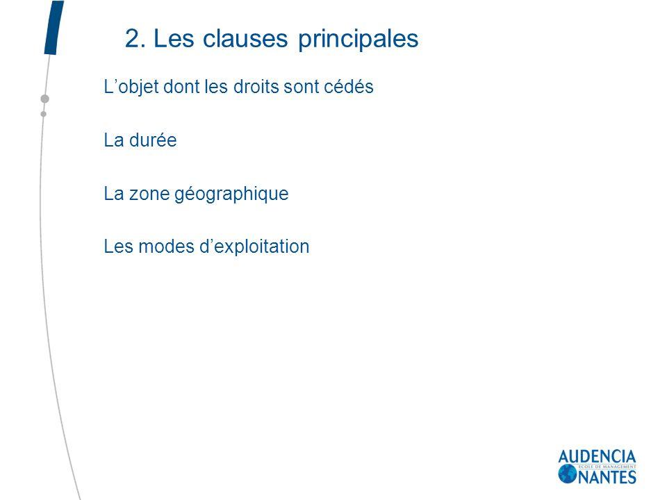 2. Les clauses principales