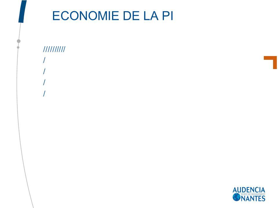 ECONOMIE DE LA PI ////////// /
