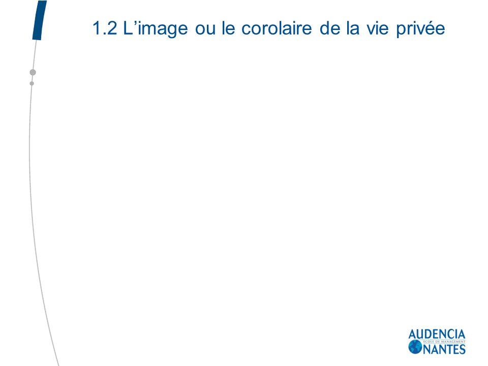 1.2 L'image ou le corolaire de la vie privée