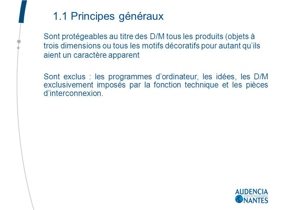 1.1 Principes généraux