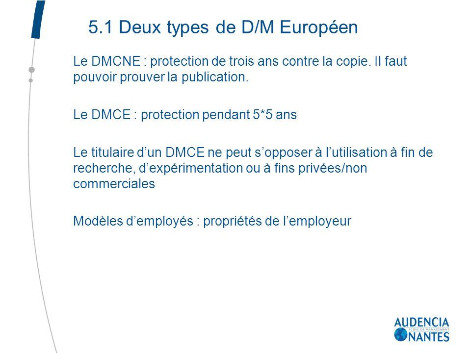 5.1 Deux types de D/M Européen