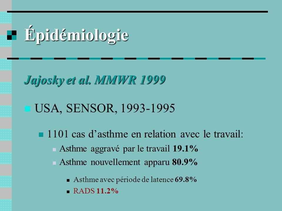 Épidémiologie Jajosky et al. MMWR 1999 USA, SENSOR, 1993-1995