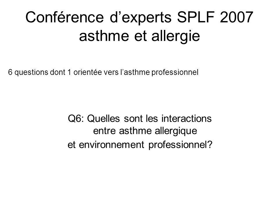 Conférence d'experts SPLF 2007 asthme et allergie