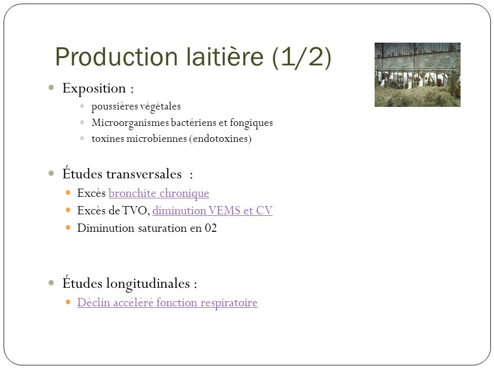 Production laitière (1/2)