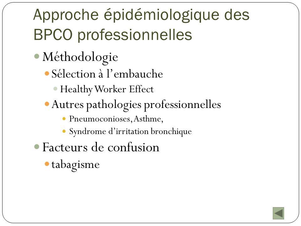 Approche épidémiologique des BPCO professionnelles