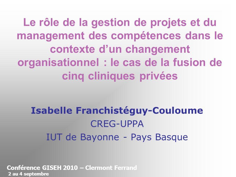 Isabelle Franchistéguy-Couloume CREG-UPPA IUT de Bayonne - Pays Basque