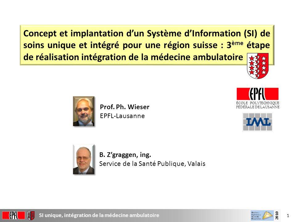 Concept et implantation d'un Système d'Information (SI) de soins unique et intégré pour une région suisse : 3ème étape de réalisation intégration de la médecine ambulatoire