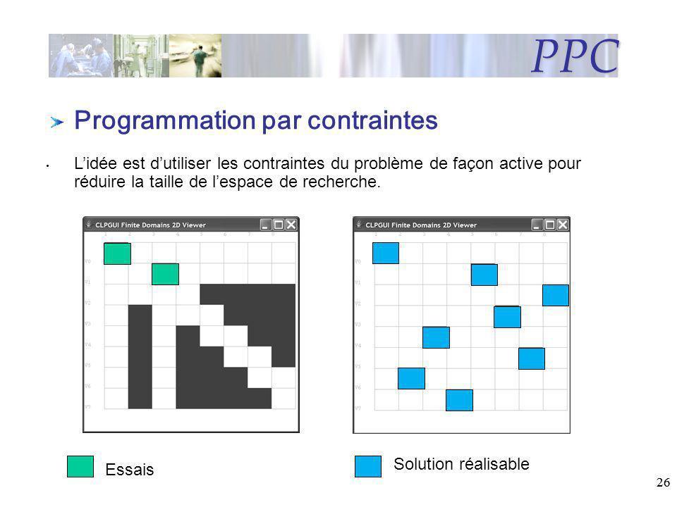 PPC Programmation par contraintes