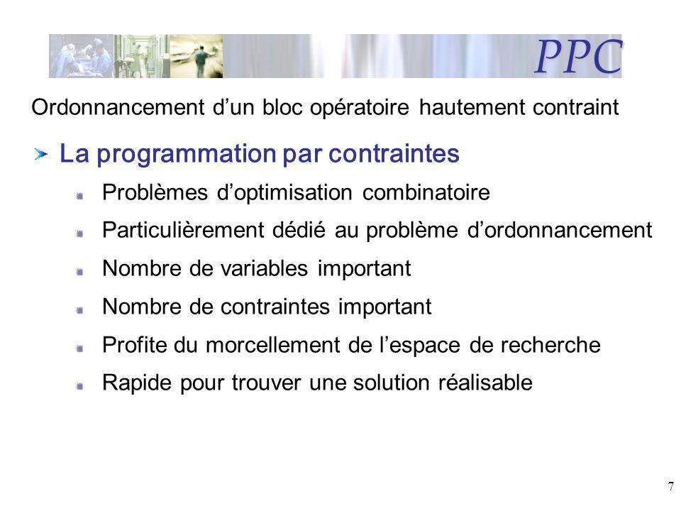 PPC La programmation par contraintes