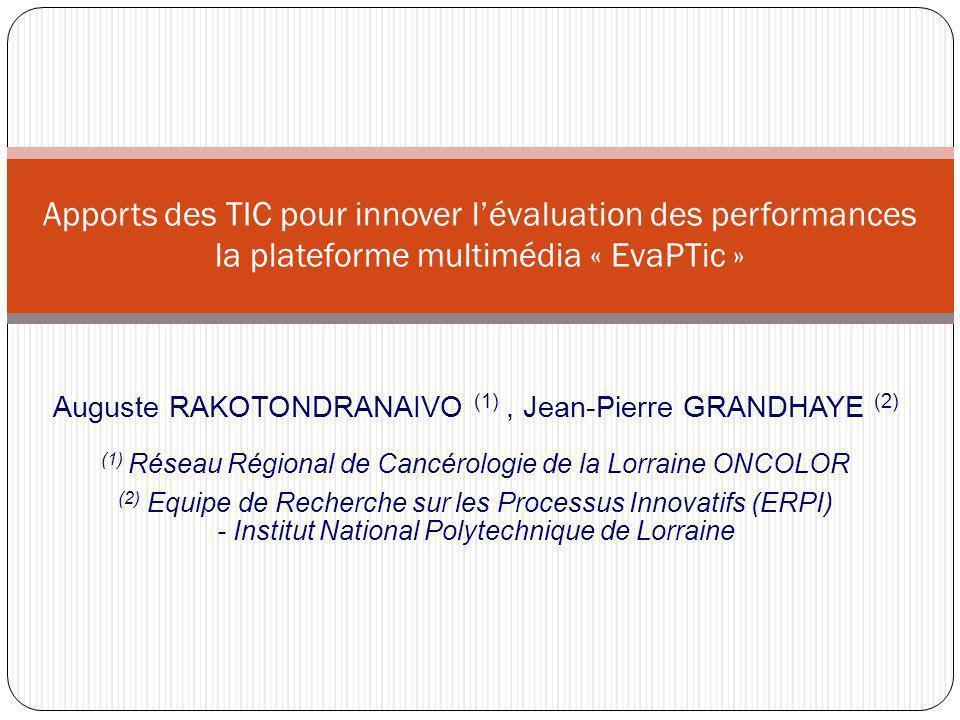 Apports des TIC pour innover l'évaluation des performances la plateforme multimédia « EvaPTic »