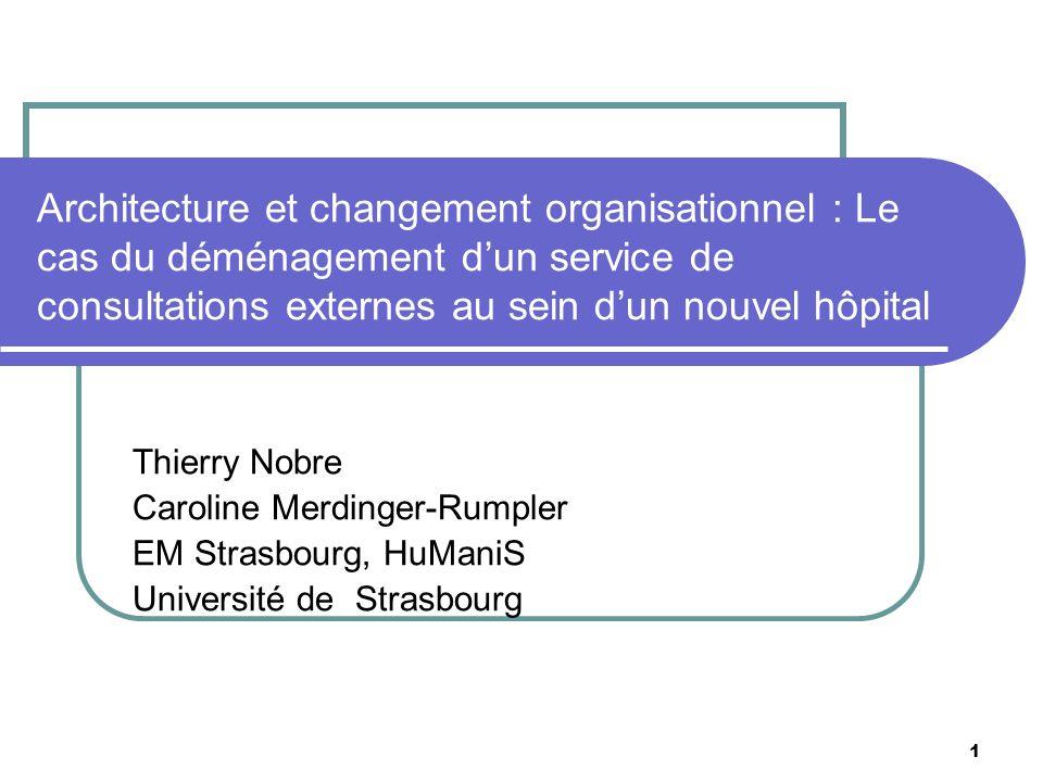 Architecture et changement organisationnel : Le cas du déménagement d'un service de consultations externes au sein d'un nouvel hôpital