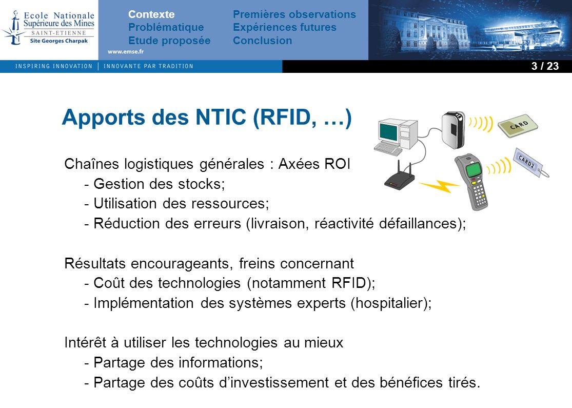 Apports des NTIC (RFID, …)