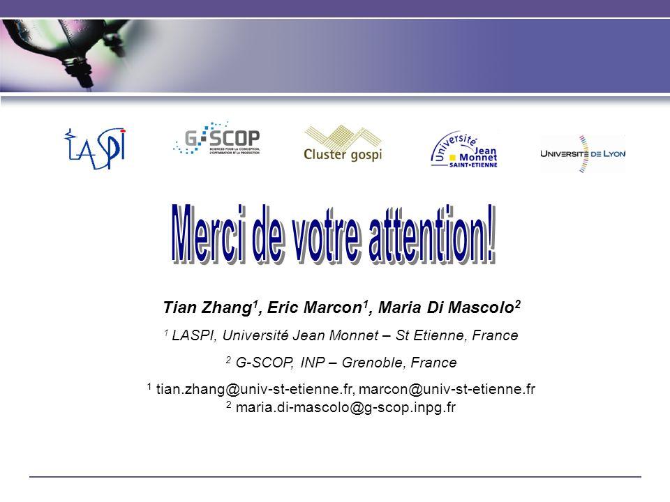 Merci de votre attention! Tian Zhang1, Eric Marcon1, Maria Di Mascolo2